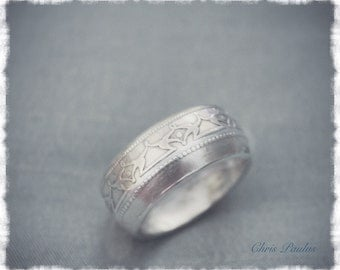 New Foundland Silver Coin Ring