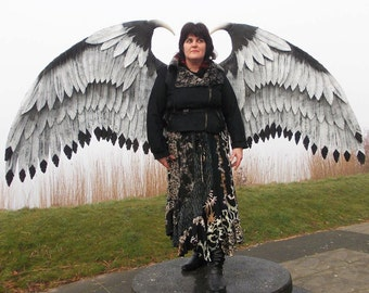 Large Eagle Cosplay Wings. Eco & animal friendly. Adult Fairy handmade costume wings.