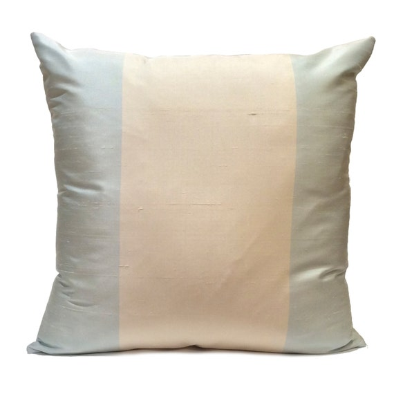 Baby Blue And Brown Throw Pillows : Off White and Baby Blue Pillow Throw Pillow Cover Decorative