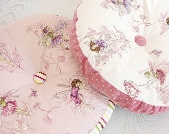 COWTAN & TOUT WHIMSICAL Fairy Tales Flower Fairies Fabric 10 Yards Shabby Rose Pink Multi