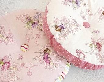 COWTAN & TOUT WHIMSICAL Fairy Tales Flower Fairies Fabric 10 Yards Shabby Rose Pink Multi