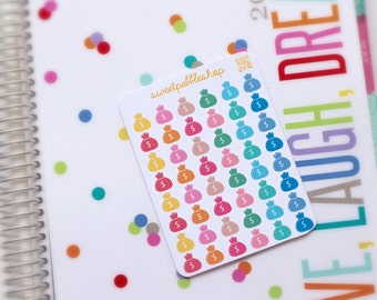 Money Sac / Coin Purse / Pay Day (48) - Die-Cut Planner Sticker