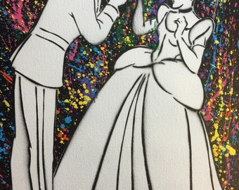 cinderella Canvas 8x10