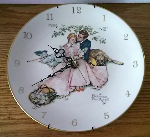 Norman Rockwell Summer Scene Plat Clock