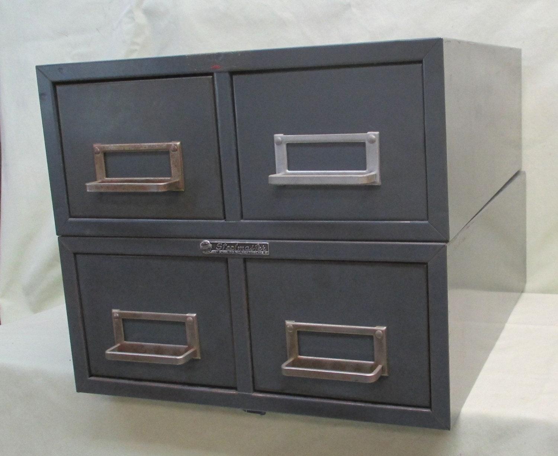 pair 2 drawer steelmaster metal filing cabinet by theoldgrainery. Black Bedroom Furniture Sets. Home Design Ideas