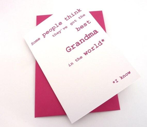 Funny Birthday Card Happy Birthday Grandma Card By Anchorage19