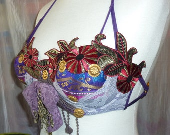 Purple Tribal-Costume, Tribal-Fusion-Costume, Bra US 34B