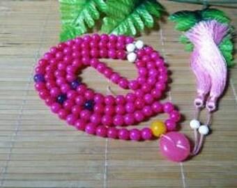 Free Shipping - natural jade beads pink beads luck Ping 108 beads 12MM