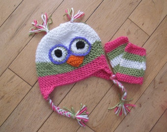 Whoot Whoot  owl hat and leg warmers