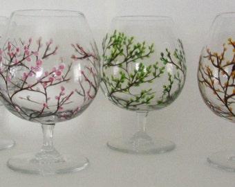 Four Seasons Brandy Snifters