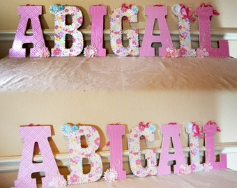 Baby Room Decor, Baby Nursery Decor, Custom Nursery Letters, Nursery Decor, Custom Letters, Nursery Letters, Custom Wood Letters, Letters