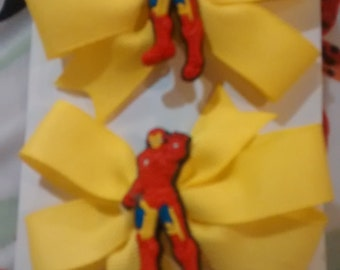 Ironman Pigtail Bows