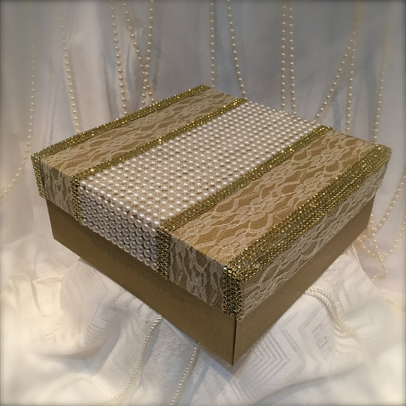 Gold Wedding Gift Card Holder : ... Gifts Guest Books Portraits & Frames Wedding Favors All Gifts