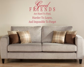 Good Friends Wall Decal Sticker
