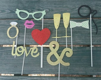 Photo Booth Props (engagement, wedding, bridal, anniversary)