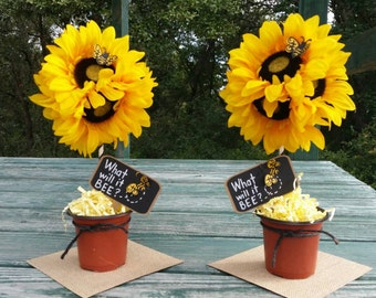 What Will It Bee? Topiary Centerpieces (2 included in price)