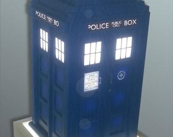 TARDIS Inspired Table Lamp