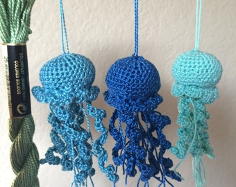 Little Blue Jellyfish Crochet Jellyfish Amigurumi Jellyfish