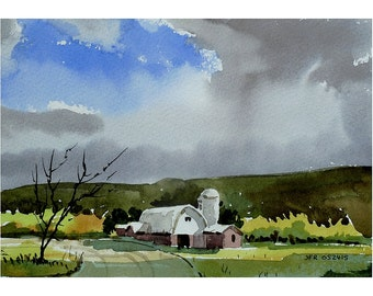Rain and Shine, original watercolor