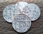 Brown University Campus Map Cork Coasters - Set of 4