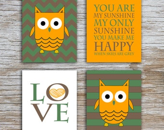 Kids (D) - You Are  My Sunshine - Owl - Camo - 4 Parts