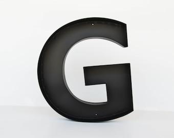 "Metal letters ""G"" sign letter - wall decor letters, large letter 'g' metal letter"
