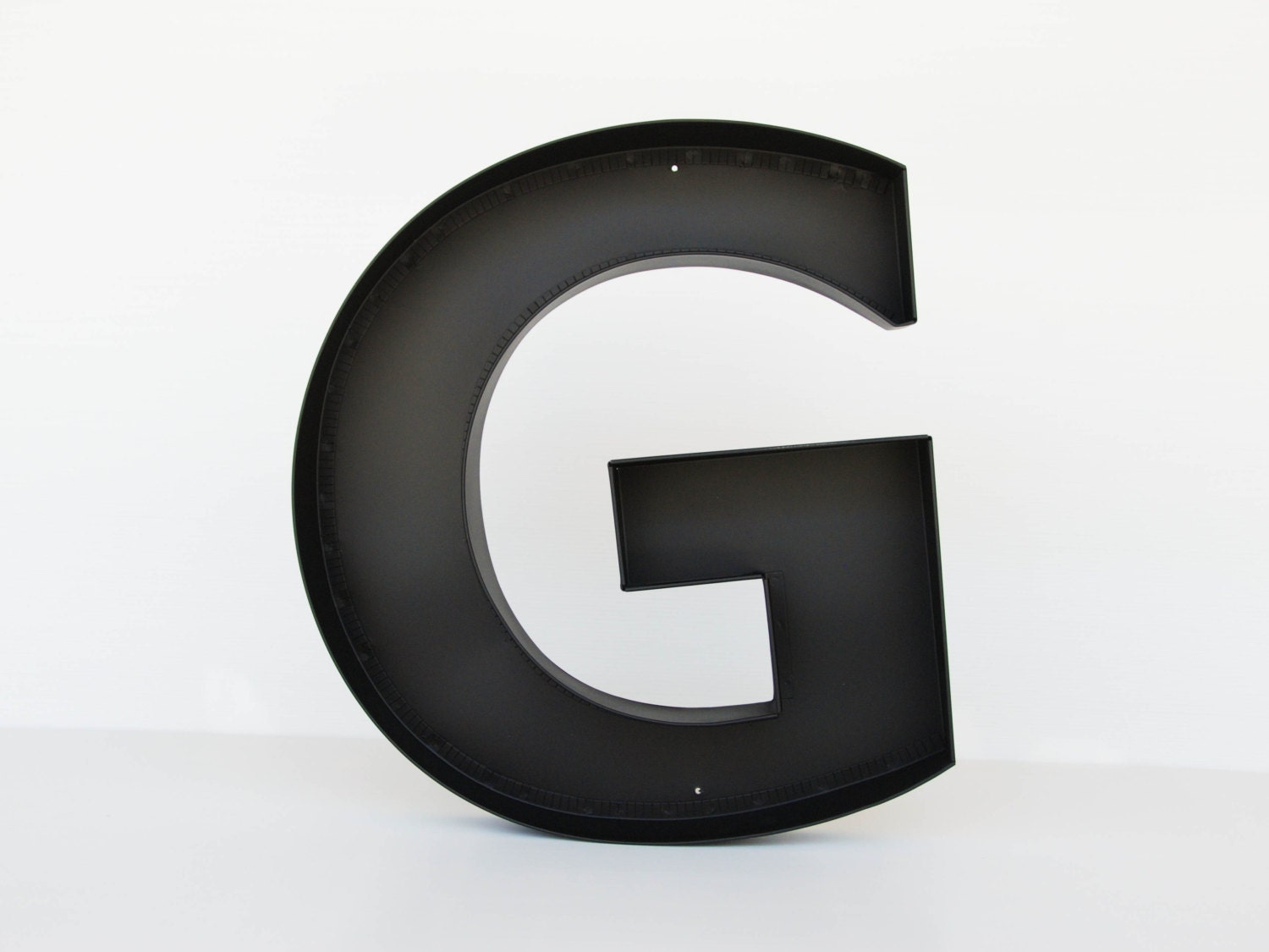Wall Decor Metal Numbers : Metal letters g sign letter wall decor large by