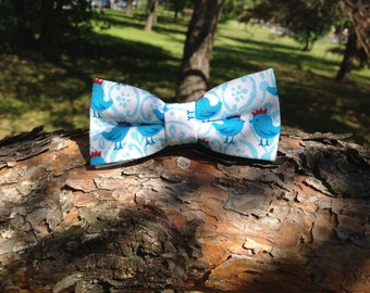 blue chick bow tie for children
