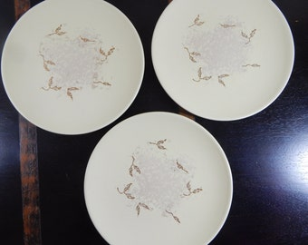 Russel Wright   3 Salad Plates - Seeds pattern