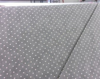 Moda 8654 122, Essential Dots, gray background with tiny white dots