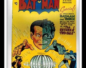 "Vintage Print Ad Comic Book Cover : Batman #50 / Detective Comics #153 Robin Illustration Dbl Sided Wall Art Decor 8"" x 10 3/4"""