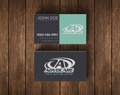 Customized Advocare Business Cards • Full Color Print Both Sides • UV Coated or Matte Finish • 16PT Paper Stock