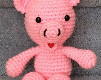 Adorable Custom Made Crochet Pig