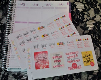 Perfectly Posh Consultant Planning Stickers for Erin Condren Life Planner Plum Paper Planner