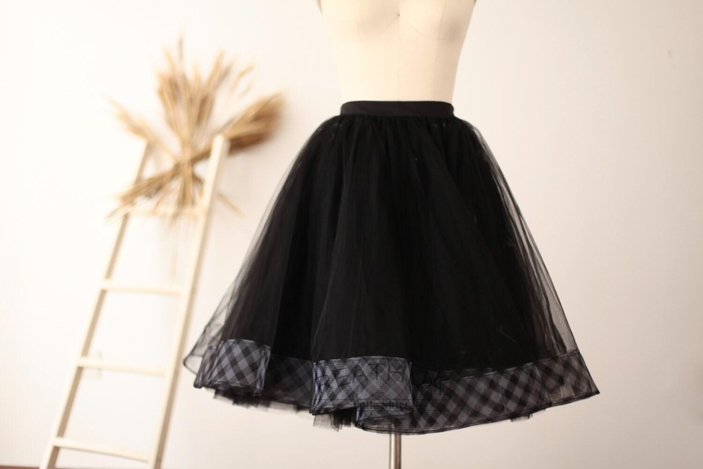 black horsehair tulle skirt skirt tutu tulle