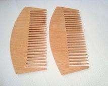 2 Wooden combs. Wood comb. Eco-friendly wood comb. Wooden accessories