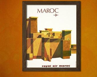 BUY 2 GET 1 FREE Morocco Travel Print - Vintage Travel Poster Travel Wall Decor Morocco Poster Travel Moroccan Prints Birthday Gift Idea