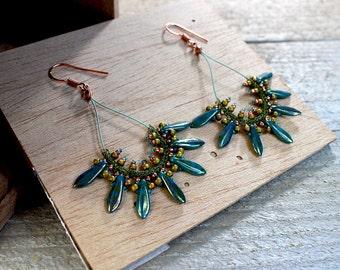 KIT – Spike Earrings (Green)