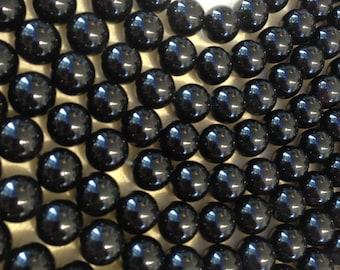 12mm round black Tourmaline beads over 70% off