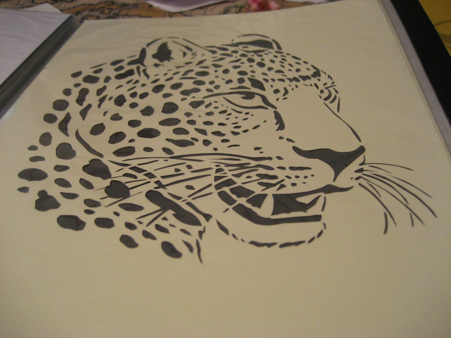 Set Of 4 Wild African Animals Paper Cutting Templates