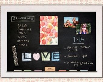 Chelsea Driftwood White Framed Magnetic Chalkboard