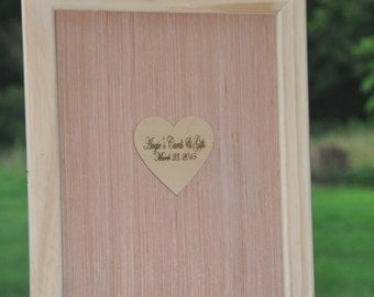 Custom Alternative Wedding Guest Book Frame Drop Box