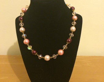 Pink and burgundy Pearls