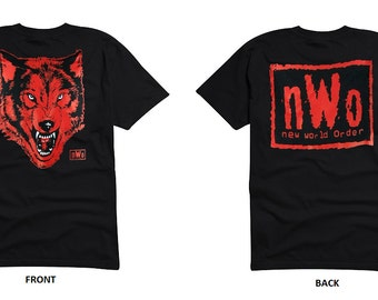 NWO Black Red Wolfpack New World Order Wolf pack Adult Unisex T-shirt Tee