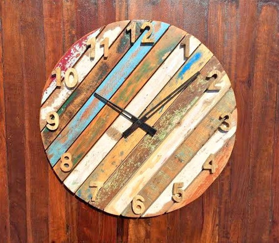 Rustic & Antique Round Wall Clock