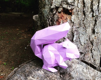 Squirrel papercraft model DIY template
