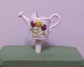 Ceramic Watering Can Planttender (#79) - Put water in Watering Can and the water will seep out thru the bottom into the soil