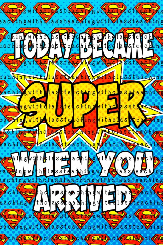 Superhero classroom poster pbis - Poster super heros ...