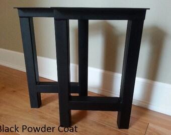 H Metal Bench Legs - Steel Bench Legs - Table Legs