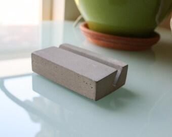 Minimalist Concrete Business Card Holder